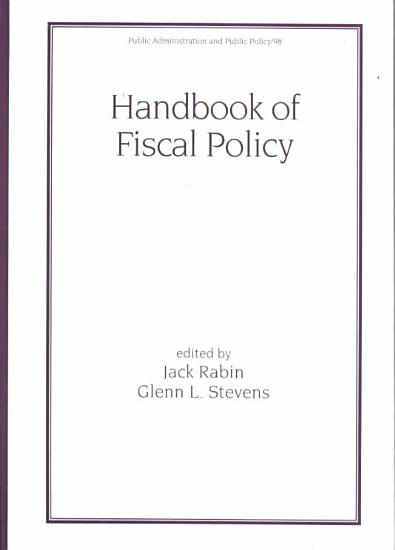 Handbook of Fiscal Policy PDF