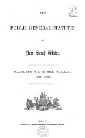 The Public General Statutes of New South Wales PDF