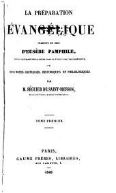 La préparation évangélique: Volume1