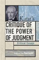 Kant s Critique of the Power of Judgment PDF