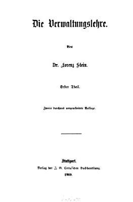 Die Verwaltungslehre  pt  1 3 Die vollziehende Gewalt PDF
