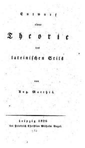 Entwurf einer Theorie des lateinischen Stils
