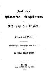 Th. Plataikos. Archidamos. Rede über den Frieden