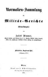 Normalien-Sammlung für Militär-Gerichte: Band 16