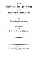 Johann Gottfried von Herder s s  mmtliche Werke zur Religion und Theologie PDF