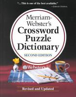 Merriam Webster s Crossword Puzzle Dictionary PDF