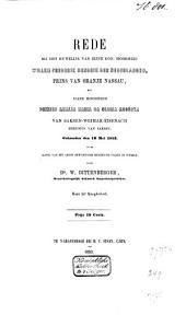 Rede bij het huwelijk van Zijne Kon. Hoogheid Willem Frederik Hendrik der Nederlanden, Prins van Oranje Nassau, met Hare Hoogheid Prinses Amalia Maria da Gloria Augusta van Saksen-Weimar-Eisenach Hertogin van Saksen, gehouden den 19 Mei 1853 in de kapel van het groot hertogelijk residentie-paleis te Weimar