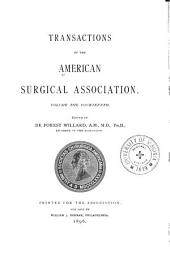 Transactions of the American Surgical Association: Volume 14