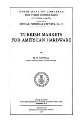 Turkish Markets for American Hardware