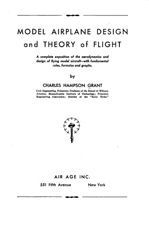 Model Airplane Design and Theory of Flight PDF