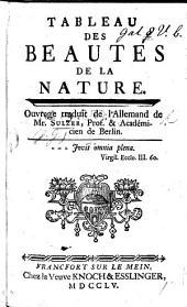 Tableau des Beautés de la Nature, ouvrage traduit de l'Allemand de Mr. S. [by J. E. Roques.]