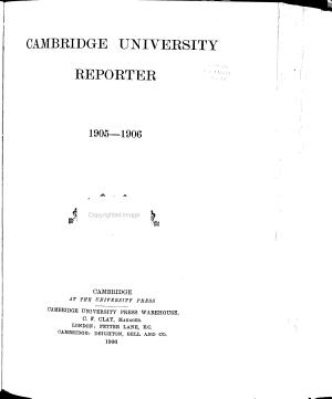 Cambridge University Reporter PDF