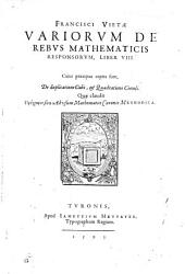 Variorum de rebus mathematicis responsorum liber VIII