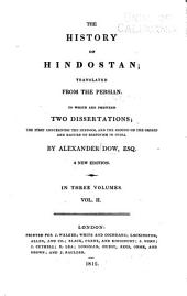 The History of Hindostan: Translated from the Persian ...