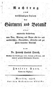 Gartnerei und Botanik: Band 2