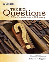 The Big Questions  A Short Introduction to Philosophy PDF