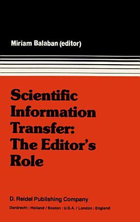 Scientific Information Transfer  The Editor   s Role PDF