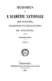 Mémoires de l'Académie nationale des sciences, inscriptions et belles-lettres de Toulouse