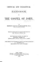 Critical and Exegetical Hand-book to the Gospel of John