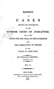 Reports of Cases Argued and Determined in the Supreme Court of Judicature PDF