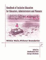 Handbook of Inclusive Education for Educators  Administrators and Planners PDF