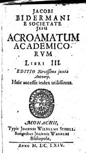 Acroamata academica