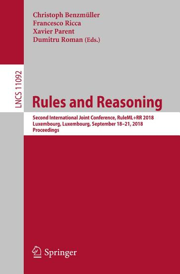 Rules and Reasoning PDF