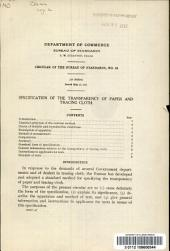 Specification of the transparency of paper and tracing cloth
