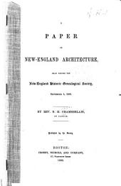 A paper on New-England architecture