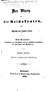 Der Virey und die Aristokraten; oder, Mexiko im Jahr 1812