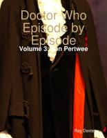 Doctor Who Episode By Episode  Volume 3 Jon Pertwee PDF