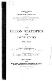 Prison Statistics of the United States for 1888