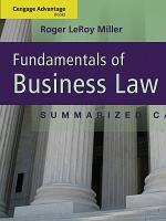 Cengage Advantage Books  Fundamentals of Business Law  Summarized Cases PDF