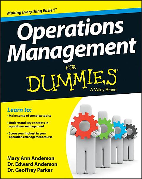 Operations Management For Dummies Pdf Book