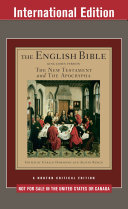 THE ENGLISH BIBLE KING JAMES VERSION: Volume Two The New Testament and the Apocrypha