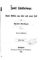 Zwölf Schicksalswege: Bunte Blätter aus alter und neuer Zeit. In drei Bänden, Band 1