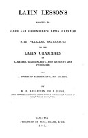 Latin Lessons Adapted to Allen and Greenough s Latin Grammar PDF