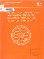 Financial Management and Accounting Technical Assistance Manual for State Units on Aging PDF