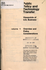 Public Policy and Technology Transfer