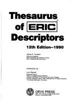 Thesaurus of ERIC Descriptors PDF