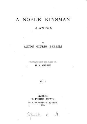 A noble kinsman  tr  by H A  Martin PDF
