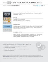 Communicating Clearly About Medicines: Proceedings of a Workshop