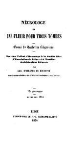 Négrologie Ou Une Fleur Pour Trois Tombes