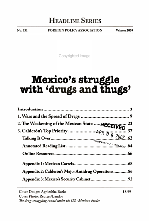 Mexico s Struggle with  drugs and Thugs  PDF