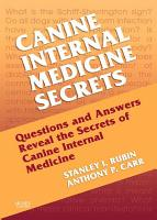 Canine Internal Medicine Secrets E Book PDF