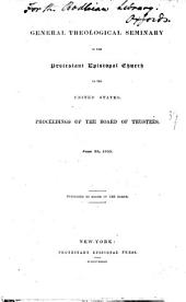 Proceedings of the board of trustees
