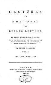 Lectures on Rhetoric and Belles-lettres: Volume 1