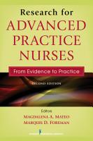 Research for Advanced Practice Nurses  Second Edition PDF