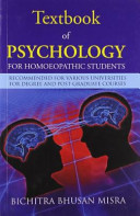 Textbook of Psychology for Homoeopathic Students