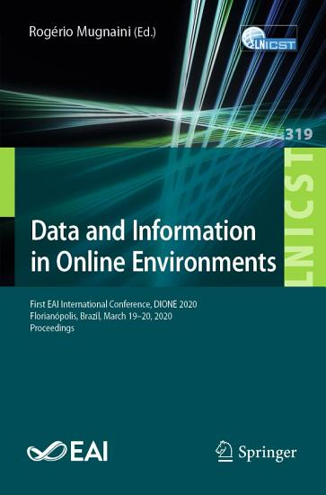 Data and Information in Online Environments PDF